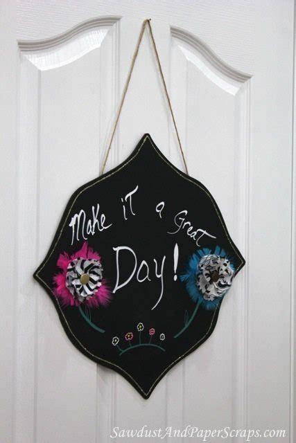decorative chalkboard craft sawdust girl