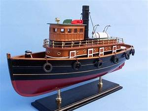 Buy Wooden River Rat Tugboat Model - Wholesale Wholesale