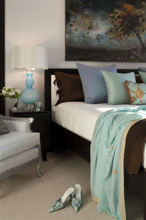bedroom luxurious palette  tiffany blue rich