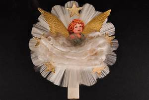 Spun Glass Angel Tree Topper Penn Polly Vintage Collectibles