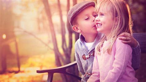 cute baby couple kissing nice love image  hd