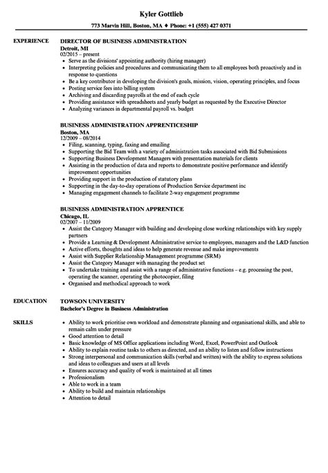It Administrator Resume Sle by Business Administration Resume Exle