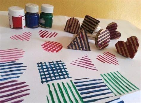 diy cardboard stamps     stamper decorating