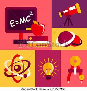 Physics flat design icons set | Clipart Panda - Free ...
