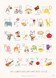 printable alphabet posters english french spanish With poster letters to print