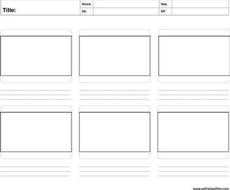 storyboard template storyboard template templates