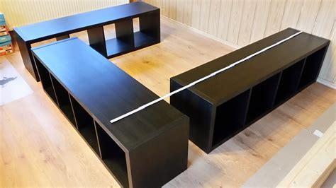 Bett Selber Bauen Ikea by Buchie De Ikea Hack Aus Kallax Wird Ein Bett Pinteres Avec