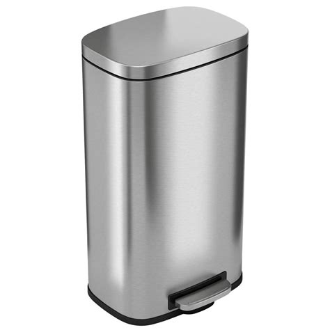 gallon stainless steel softstep trash  container