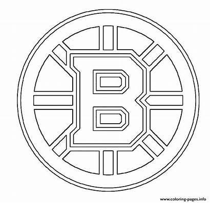 Bruins Boston Coloring Pages Nhl Printable