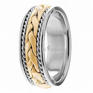 rope hand braided ring mens 14k gold braided wedding bands With mens braided wedding ring