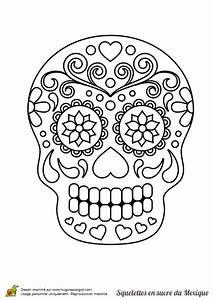 Tete De Mort Mexicaine Dessin : a colorier t te de mort en sucre joliment d cor e de ~ Melissatoandfro.com Idées de Décoration