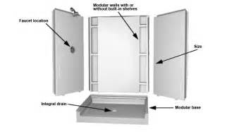 Acrylic Shower Enclosures by Modular Showers One Piece Showers And Bases Buyer S