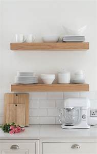 3 ways to style open kitchen shelves - The Green Eyed Girl