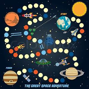 Space Quest Game With Start Finish And