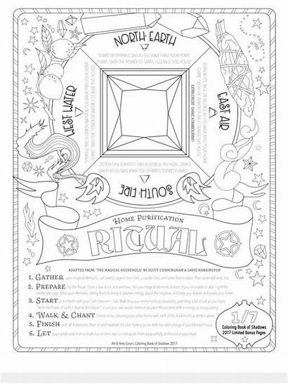 Coloring Witch Grimoire Pagan Adult Magic Witchcraft