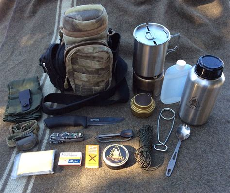 my bottle kit exploded survival gear bushcraft kit
