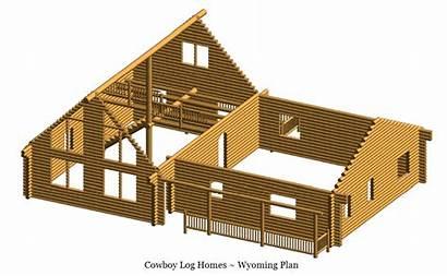 Wyoming Log Plan Sq Ft Homes 2088