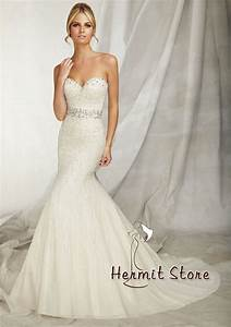 Zm0018 Strapless mermaid wedding dress bling wedding ...