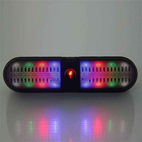 Speakers With Lights by Portable Led Light Wireless Bluetooth Stereo Speaker Fm