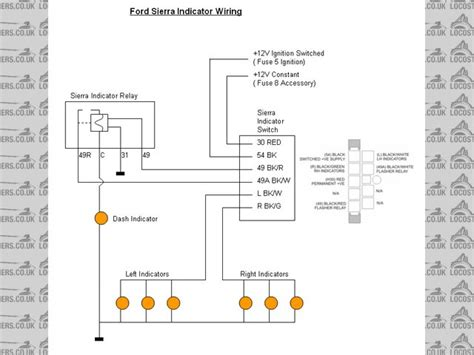 Indicator Light Wiring Diagram by Indicators Hazard Warning Lights Electrics Rhocar