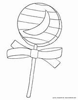 Candy Coloring Halloween Printable Lollipop Colouring Pdf Kinderart Sheets Getcoloringpages Apple sketch template