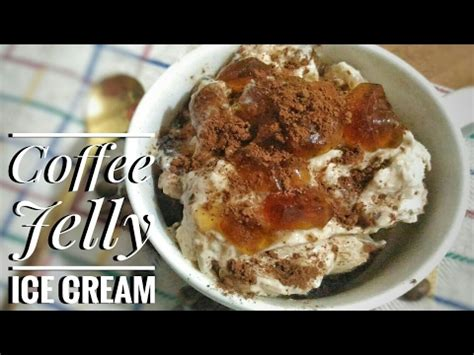 Coffee jelly pinoy version with sago tapioca pearls! Filipino Style Coffee Jelly Ice Cream | Food Bae - YouTube