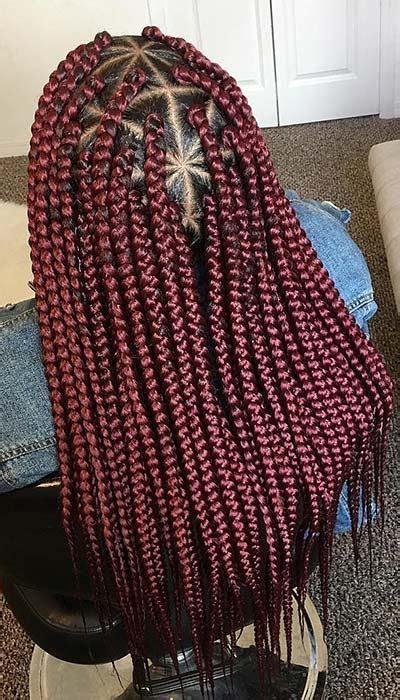 triangle box braids styles  adore