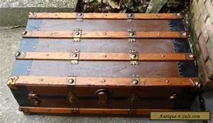 antique vintage steamer trunk blanket box coffee table With chest coffee tables for sale
