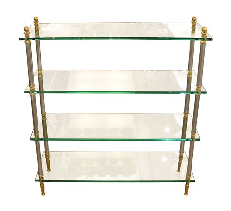 What Is Etagere by Brass Glass And Nickel Four Shelf Etagere Etageres