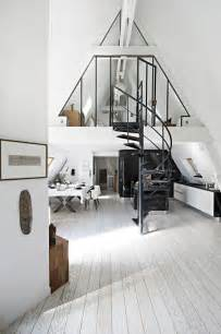 kitchen triangle with island attic transformed into tiny modern loft in