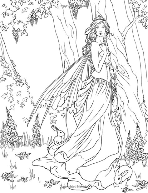 fairy adult coloring page source http www amazon com