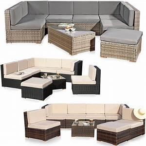 Polyrattan Sitzgruppe Braun : xxl rattanm bel gartenset polyrattan lounge gartenm bel sitzgruppe schwarz braun eur 499 34 ~ Watch28wear.com Haus und Dekorationen