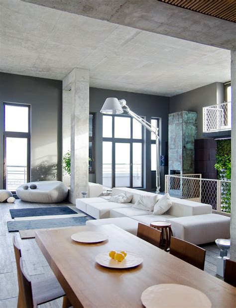 living room apartment industrial loft apartment in kiev Industrial