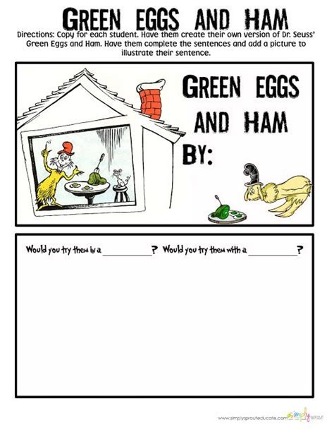 dr seuss green eggs and ham activities for the classroom 319 | 887ef53d295edfe886283092bc5da71b
