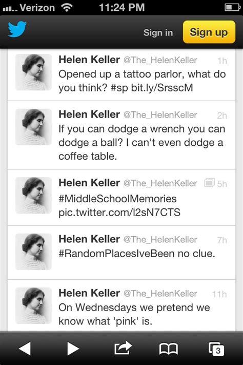 helen keller tweets funny