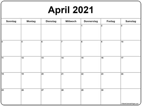 april  kalender kalender