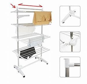 Wäscheständer Zum Aufhängen : w schest nder w scheturm mit 4 verstellbaren ebenen und ~ Michelbontemps.com Haus und Dekorationen