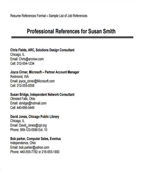 resume references template 74 resume formats pdf doc free premium templates