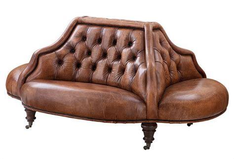 sofa braun vintage casa padrino luxus echt leder sofa vintage leder tobacco braun 4 seitig luxus hotel club sofa