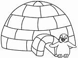 Coloring Igloo Penguin Colorare Sheets Disegni Iglo Drawing Printable Lesson Colouring Template Animals Penguins Inverno Invierno Stampare Scenery Mostafa Tekenen sketch template