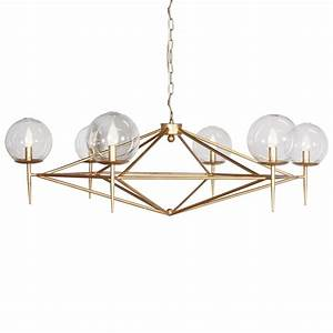 Geometric gold leaf chandelier kudzu and company