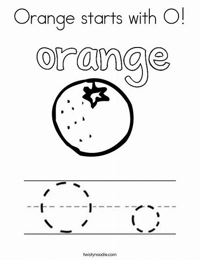Orange Coloring Starts Letter Pages Ll Twistynoodle