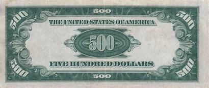 Bill Dollar 500 1934 Reverse Note Usd