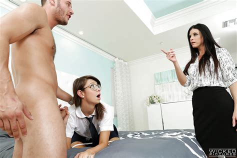 naughty schoolgirl aspen ora and milf india summer sucking balls and cock porn pictures xxx