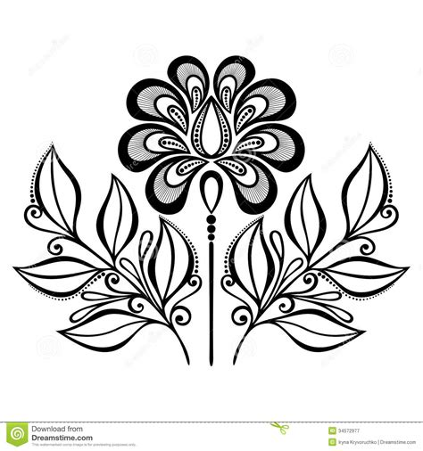 decorative flower and leaf designs decorative flower with leaves royalty free stock photography image 34572977