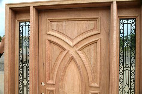 Wooden Doors : Exterior Wood Doors With Wrought Iron Glass Sidelights