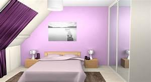 stunning deco chambre parme et blanc gallery seiunkelus With chambre parme et beige