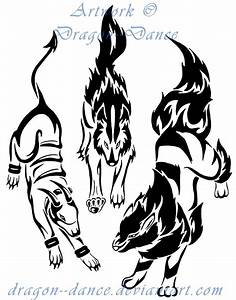 Tribal Mightyena, Houndoom + Arcanine Commission by ...