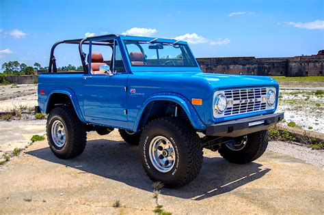 blue bronco car 76 39 classic ford bronco restomod is what quot sky blue quot dreams