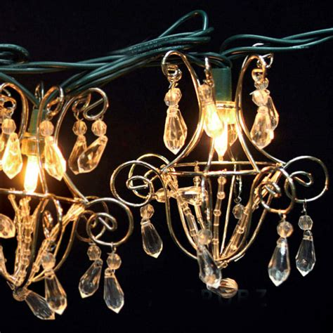 mini acrylic crystal chandelier string lights ft
